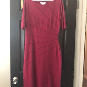 Maggy London Gathered Crepe Sheath Dress